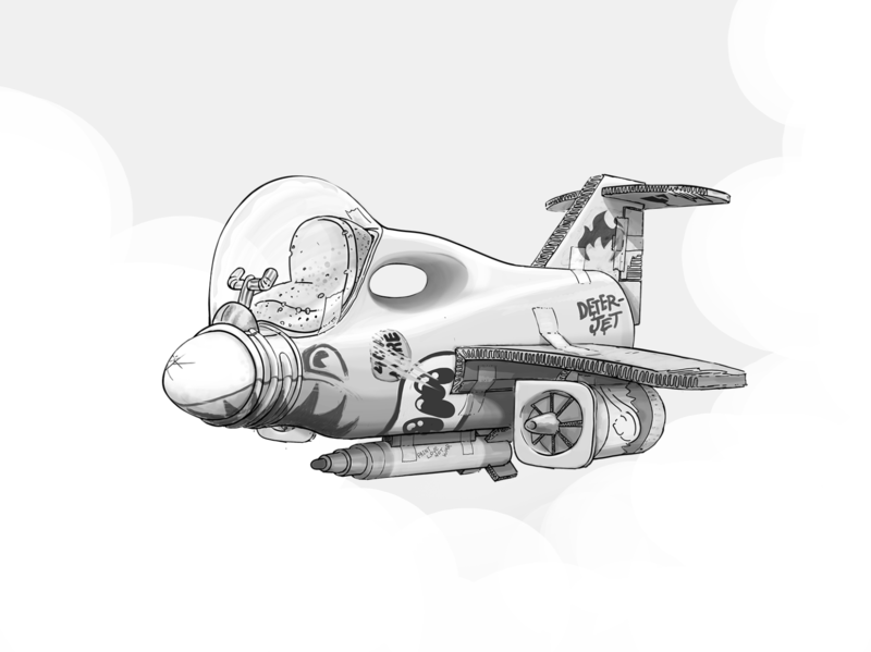 DeterJet littlebigplanet photoshop vehicles jet jet fighter vehicle design inkandbees design concept art illustration digital art