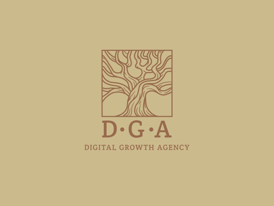 DGA LOGO tree art design logotype agency growth digital