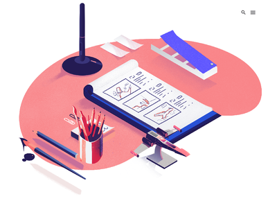 Interactive Agency procreate webdesign webillustration illustration illustration art design art xwing interactive design quantoo