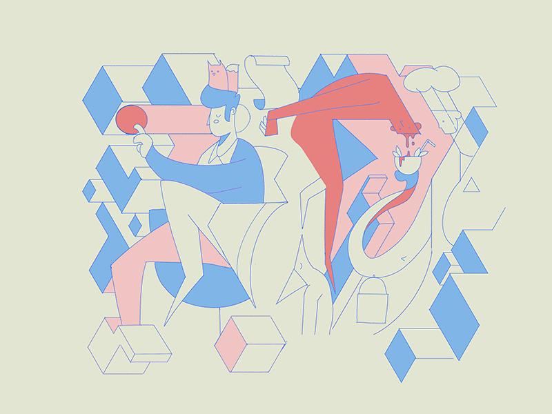 Lelumpolelum procreate flat abstract design abstract illustration