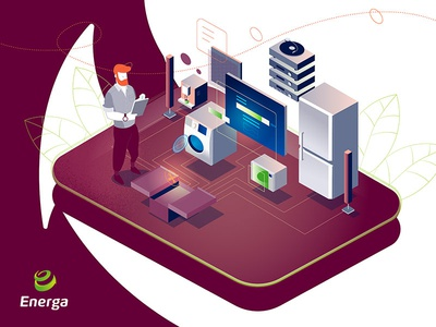 Home Appliance Service casual beard pink service home energy png picure webillustration webdesign gradient isometric illustration