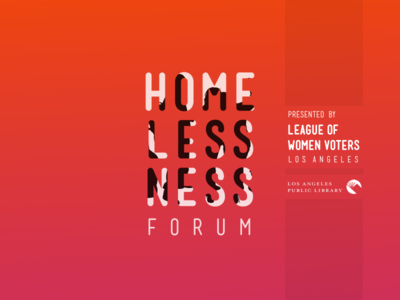 Homelessness Forum Announcement pink orange gradient