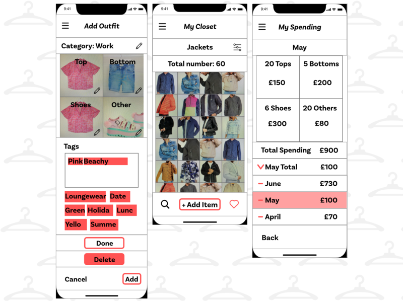 GA organise your closet project uxui ux organise your closet general assembly