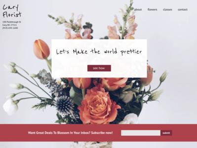 Cary Florist Desktop flowers art desktop website web ui minimal logo flat design branding
