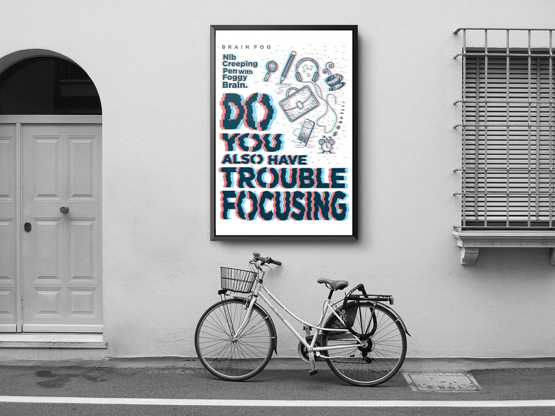 Brain Fog Poster Design concept art brainfog poster art typography graphic art illustrator poster design poster