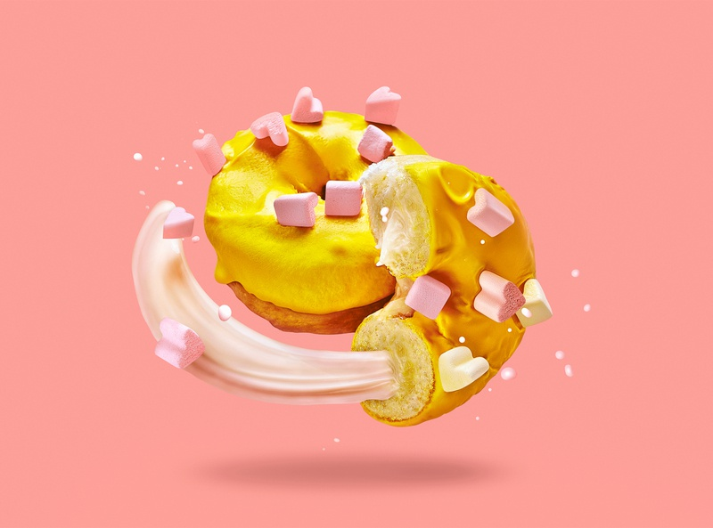 Sweet donut concept artwork sweet donut lightroom captureone collage retouch advertasing photoshop pink graphicdesign design foodporn art