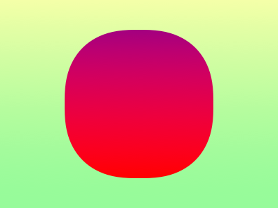 Squircle sunset squircle gradient