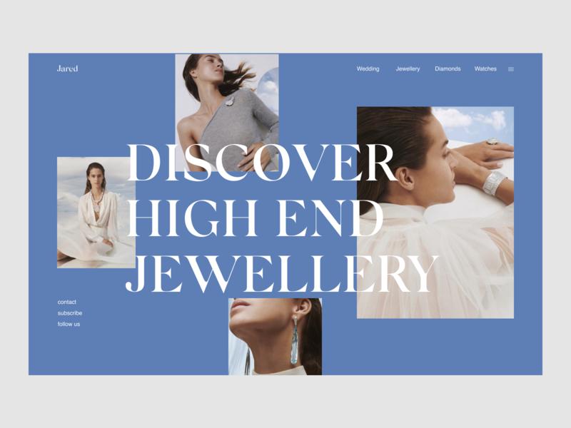 Jared Website Redesign Concept website ui design promo jewelry elegant ecommerce ec webdesign ux uiux ui