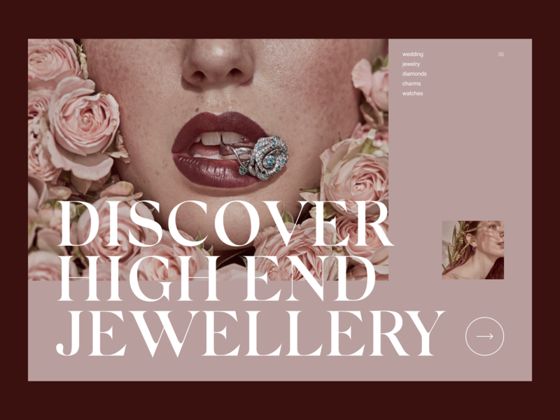 E-Commerce Jewelry Website Redesign ui design promo jewelry elegant ecommerce ec webdesign ux uiux ui