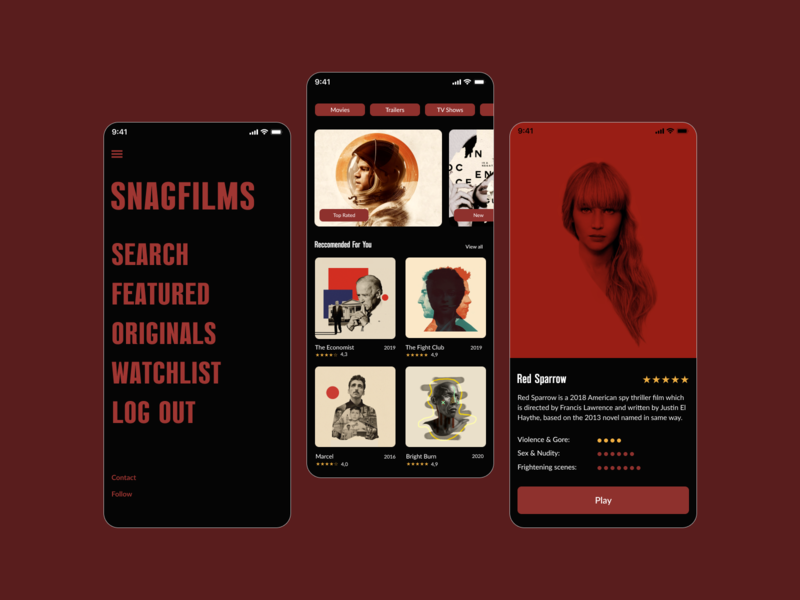 Mobile Cinema APP Redesign Concept web design design uiuxdesigner uiux design ui  ux uiuxdesign mobile uxui elegant webdesign ui design ux uiux ui