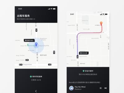 Taxi Service UI