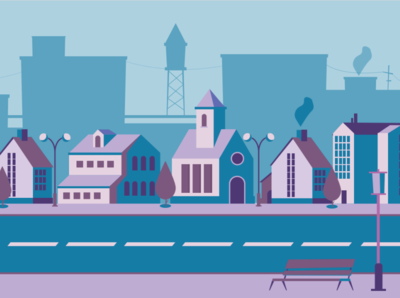 Night city web design vector illustration