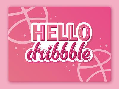 Hello dribbble type lettering invite dribble hello dribbble fashion logo design sign typogaphy monogram logotype handlettering calligraphy