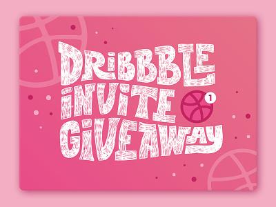 1 Dribbble invite best shot dribbble invite giveaway invite lettering sign typogaphy fashion logo design logotype handlettering