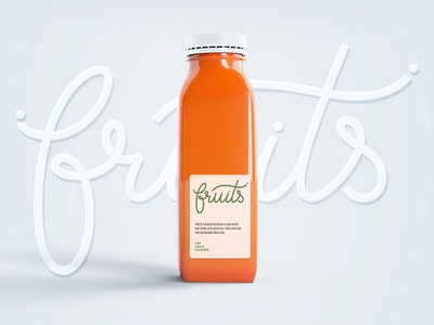 Fruits. Logo for natural juice. packaging identity mark typogaphy lettering branding monogram calligraphy logo design sign logotype handlettering
