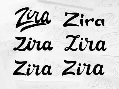 Zira- Lettering Logo Sketches Collection sketches monogram sign type lettering branding calligraphy typogaphy logotype logo design handlettering