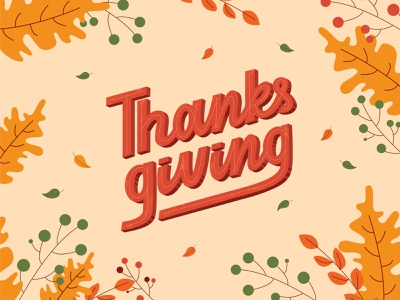 Thanksgiving lettering card thanksgiving day thanksgiving typogaphy lettering illustration logo logotype design branding handlettering logo design