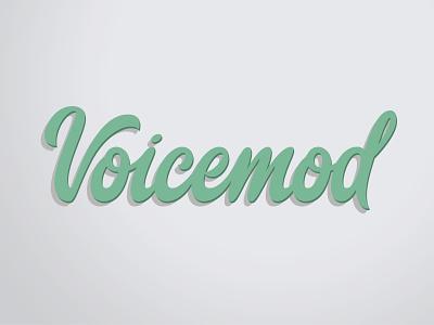 Voicemod lettering logotype mark identity calligraphy monogram handlettering lettering branding typogaphy logotype logo design