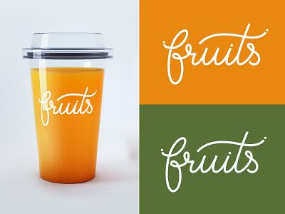 Logotype for natural juice juice design type mark logo monogram calligraphy identity lettering branding typogaphy logotype handlettering logo design