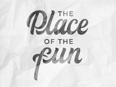 Lettering print - The Place of the fun logo create apparel brand design identity clothes fashion mark calligraphy handlettering lettering branding typogaphy logotype logo design