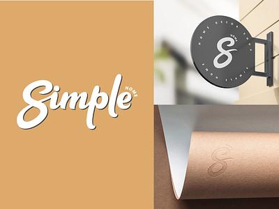 Lettering logo design for Simple Home. graphicdesign brand branding logodesign handlettering logo design logotype identity type sign calligraphy mark monogram logo design typogaphy