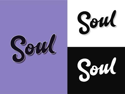 Soul - Lettering logo concept customtype brandidentity apparel logo print logodesign lettering mark type clothes identity calligraphy monogram handlettering branding typogaphy logo design logotype