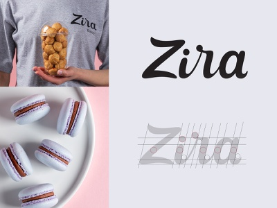Zira - Logo sketches for a brand of confectionery bakery sweet product bakery logo sketch confectionery lettering logo type calligraphy identity mark typogaphy branding logo design logotype