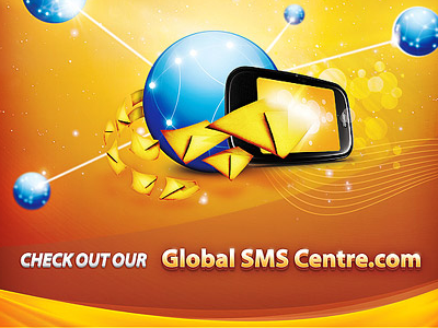 Poster Global SMS Centre poster global sms mobile earth network print