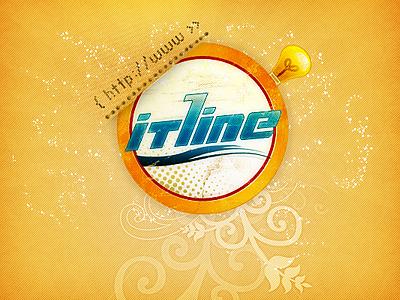 ITLine Logo itline logo circle lamp light