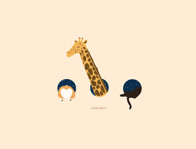 Goodnight animals illustration