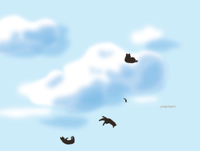 Raining Cats cats illustration
