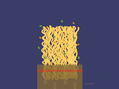 Ramen ramen illustration