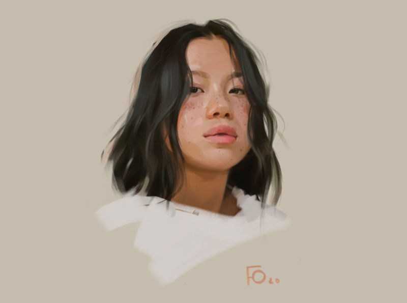 Face 2 sketch procreate portrait painting portrait illustration portrait art portrait photoshop illustration design dailyshot characterdesign character