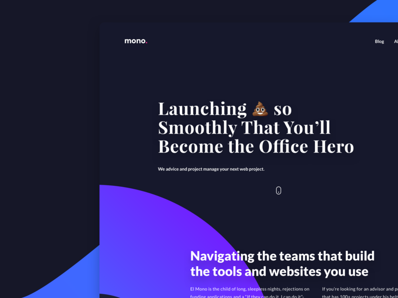 El Mono Agency Website - Landing Page logo branding gradient uxdesign landing page agency website graphic design web design colorful ux ui design