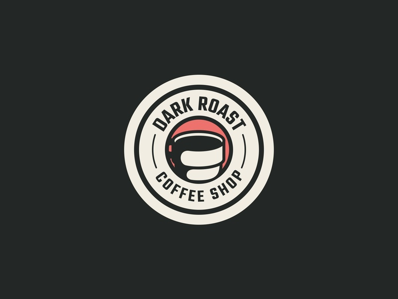 Coffee Shop Coaster design simple typography cup branding mark emblem shop vintage retro illustration iconography icon logo drink coaster