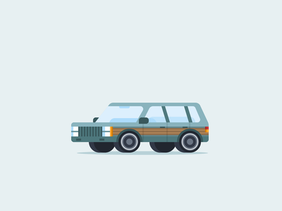 Station Wagon vector graphic design 52cars designproject vehicles vehicle tiny car small car simple micromachines icon garage illustration flat station wagon design carproject car