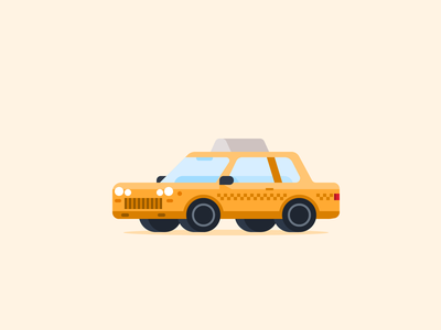 New York Taxi old cab new york carproject micromachines small car tiny car vehicle vehicles illustration cars taxi graphic design garage flat icon design 52cars car