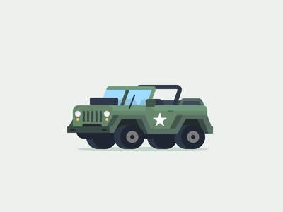 Army Jeep 52cars truck micromachines tiny car vehicle illustration icon jeep army car