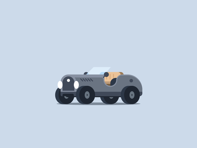 Vintage Car 52cars vintage vehicle tiny car small car micromachines racecar icon flat car illustration