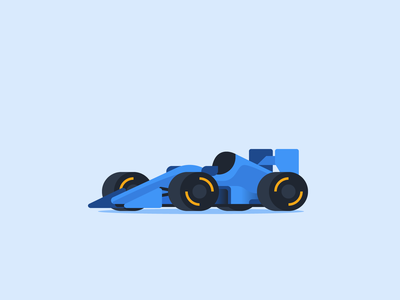 Formula 1 Race Car flat fast car racer formula 1 f1 small car tiny car micromachines icon vehicle car