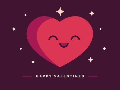Happy Valentines flat valentines day happy love heart valentines icon vector illustration