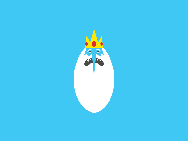 Ice King character illustration vector adventure time ice king