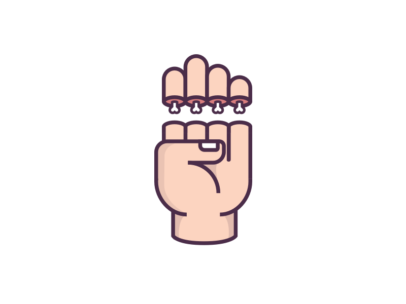 Just The Tips, Please icon bone illustration cut hand