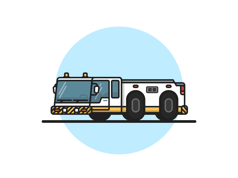 Airport Tow Truck vehicle vector outline illustration car tow truck airport truck