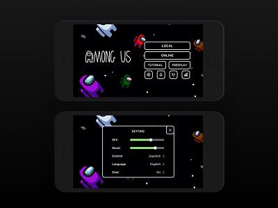 Daily UI Challenge   Setting settings page settings ui setting game setting among us mobilegame game ui application uxdesign ux uiux ui uidesign simple dailyuichallenge appdesign app