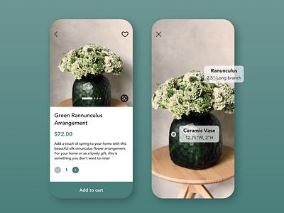 Daily UI Challenge   Single Product e-comerce e-commerce app flowershop flower product single product application appdesign app uxdesign ux uiux uidesign ui simple dailyuichallenge