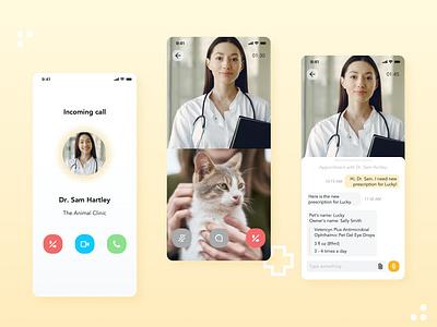 Daily UI Challenge   Direct Message virtual vet direct message direct messaging animal clinic pet app pet care medical app virtual application appdesign app uxdesign ux uidesign ui uiux simple dailyuichallenge