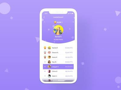 Daily UI Challenge Leaderboard game leaderboard ranking leaderboard game app game dailyui design app application appdesign uiux ux ui simple uxdesign uidesign dailyuichallenge