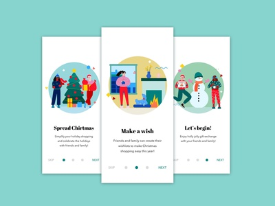 Daily UI Challenge   Onboarding christmas card christmas shopping christmas app holiday onboarding screen onboarding ui onboarding design app application appdesign ux ui uiux uxdesign uidesign dailyuichallenge