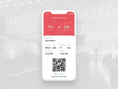 Daily UI Challenge   Boarding Pass covid-19 qr code boarding travel app vaccine pass covid pass e-ticket boarding pass boardingpass design app application appdesign ux ui uiux uxdesign uidesign dailyuichallenge